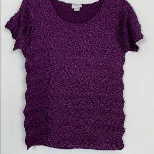 Jaclyn Smith purple short sleeved top size XL